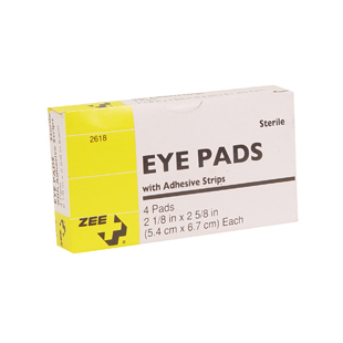 Adhesive Eye Patches Pads 4 Count Zee Medical
